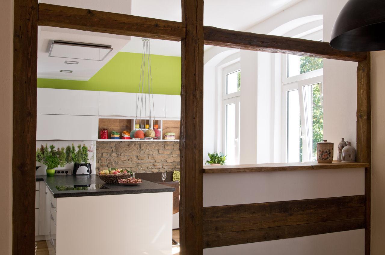 k che mit edler glasfront und granit arbeitsplatte ihr. Black Bedroom Furniture Sets. Home Design Ideas